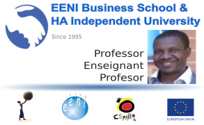 Ousséni SO, Burkina Faso (Professor Escola de Negocis EENI)